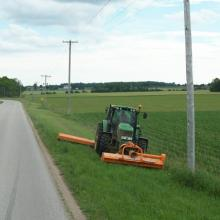 VanDriel does roadside maintenance including grass cutting